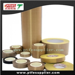 Standard PTFE Coated Fiberglass Tape –   Silicone Adhesive Backing