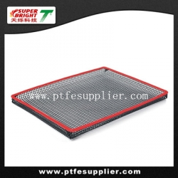 PTFE Oven BBQ Grilling Basket With Silicone Trim