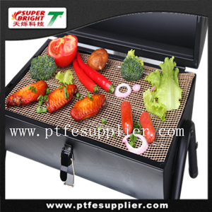 TV Product PTFE Non-stick cook mesh black oblong mat
