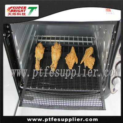 Non-stick heat resistant fiberglass microwave oven mesh
